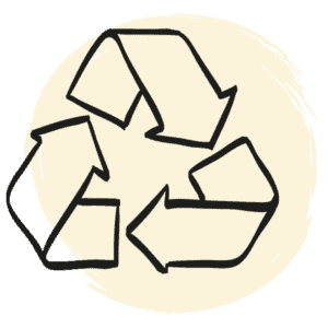 Drawed recycling icon